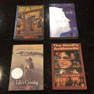 4 Books for $15  Interest Levels vary Grades 3-9